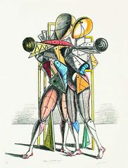de Chirico - Hector and Andromache [1970] (petrus.agricola) Tags: de hector giorgio chirico pittura metafisica ettore andromaca andromache