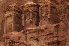 Petra, Jordan (pepperinmyteeth) Tags: city travel pink red vacation building rose rock architecture facade lost greek jones carved ancient sandstone ruins desert roman decay petra ruin middleeast indiana arabic east jordan arab arabian middle destroyed wadi musa decaying crumbling bedouin levant lastcrusade nabatean wadimusa