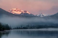 More alpine glow (MC-80) Tags: mountain lake alps austria see tirol sterreich wasser nebel berge alpen tyrol alpenglow alpenglhen alpineglow heiterwang heiterwangersee nebelstimmung