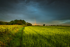 #Rainbow (Eric Goncalves) Tags: uk blue light england sky sun cold green nature beautiful clouds landscape spring rainbow warm view horizon gloucestershire nikond810 ericgoncalves nikon24120f14vr