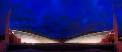 On the Podium (dkoukou) Tags: city panorama nightscape stadium sony tripod games athens greece podium olympic panathenaic a7r fe1635