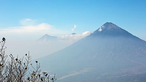 Volcano Agua (with Fuego behind), Guatemala