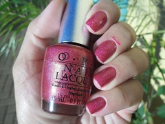 DS Reflection - OPI (Raabh Aquino) Tags: pink red coral rosa vermelho nails nailpolish holographic unha opi esmalte hologrfico