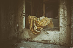 Yellow blanket... (Strange Artifact) Tags: urban abandoned decay olympus be 18 chateau exploration ue 25mm mkii urbex mark2 em10 rochendaal mzuiko