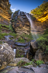 Blue Mountain (Buff Hamster) Tags: new blue sunset mountain fall wales night sisters sunrise canon point landscape three waterfall hiking south echo australia hike wentworth cascades nsw tamron emperor katoomba leura 6d tamron2470 canon6d