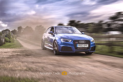 Audi RS3 (Alex Cadle Photography) Tags: auto blue sports car race speed power rally automotive racing audi rs rs3