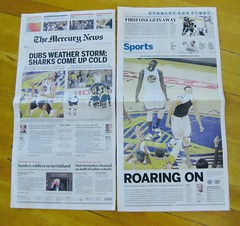 Golden State Warriors Western Conference Champions (bigsassysmurf) Tags: newspapers goldenstatewarriors westernconferencechampions sports basketball