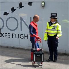 Secret identity revealed - DSCF2145a (normko) Tags: street west london square secret leicester spiderman police identity end met metropolitan officer unmasked