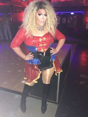 #KrymsonScholar #midtownpub (krymsonscholar) Tags: krymsonscholar midtownpub 50 000 tgirl sheer trans shemale ladyboy transgender showgirls ts tgirls curlyblonde tgurls tg pantyhose tights shinytights krymson
