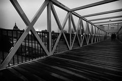 17 lanes (TwinCitiesSeen) Tags: bridge people blackandwhite minnesota minneapolis twincities irenehixonwhitneybridge tokina1224mm canont3i twincitiesseen