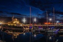 JWD (MC Snapper78) Tags: reflection night reflections reflecting scotland riverclyde greenock yachts galileo inverclyde superyacht nikond3300 jameswattdocks marilynconnor