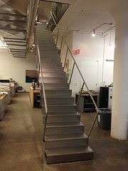 Blackened steel stair with stainless treads (Rapid Prototyping China) Tags: blackened stainless stair steel treads
