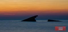 """Shipwrecked..."" (J Visions Photography) Tags: longexposure sunset sea seascape ship sunsetbeach capemay jerseyshore goldenhour"