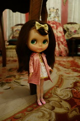 A little dolly time... (Primrose Princess) Tags: 1972 kenner blythe doll kennerblythe brunette atomicblythe endengeredsissy dollyfashion dollcollecting dollydreamland retro mod vintage retrofashion lolita