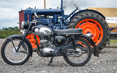 Fordson Tractor and BSA Bantam bike (Beth Hartle Photographs2013) Tags: cars 1940 historic triumph athome motorbikes reenactment aircrafts bsa fordson shuttleworthcollection vintagetractor historicaircraft historicbikes bsabantam bsam20 triumphsd1923