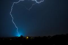 Another strike (Keinsei2) Tags: lighting cloud france weather flash rhne beaujolais fujifilm thunderstorm lightning nuage temps villefranche eclair orage meteo ain xa1 jassansriottier