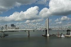 view from the foot bridge crossing Ohio River in Louisville, KY (tcd123usa) Tags: louisvillekentucky leicadlux4 lukeacts 2016 retreat