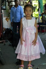 girl in pink dress with black dog (the foreign photographer - ) Tags: aug72016nikon girl child pink dress black dog khlong thanon portraits bangkhen bangkok thailand nikon d3200
