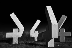 Essential elements (igo.rs) Tags: black white four statue abstract art number
