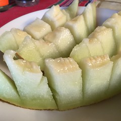Luscious Comfort (chicbee04) Tags: honeydew melon summer food sliced diced succulent sweet sweetness healthful delicious green colorful appealing breakfast lunch snack treat america american