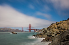 Golden Gate Bridge (brother1909) Tags: goldengatebridge california bakerbeach clouds ndfilter longexposure waves