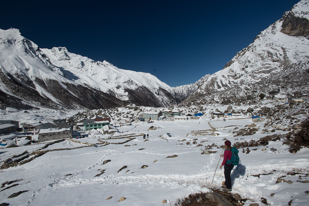 Heading back to Kyanjin Gompa