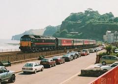 "Fragonset Rail Class 47/7, 47701 ""Waverley"" (37190 ""Dalzell"") Tags: black spoon scotrail brush seawall duff waverley sulzer dawlish class47 type4 47701 47493 class477 d1932 shoveduff fragonsetrail"
