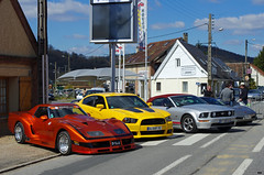 Corvette C3 Greenwood Daytona 1972, Charger SRT-8, Mustang GT Convertible (ODMotors) Tags: orange cars chevrolet grey muscle greenwood 8 convertible american dodge mustang gt daytona 1972 corvette charger yallow combo c3 srt