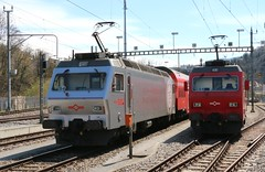 2015-04-12, SZU, Langnau-Gattikon (Fototak) Tags: train switzerland eisenbahn railway treno zvv sihltal ktu 456546 re456 456542