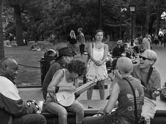 D7K_1729_ep_gs (Eric.Parker) Tags: nyc bw music usa newyork square washington washingtonsquarepark jamming bigapple 2014