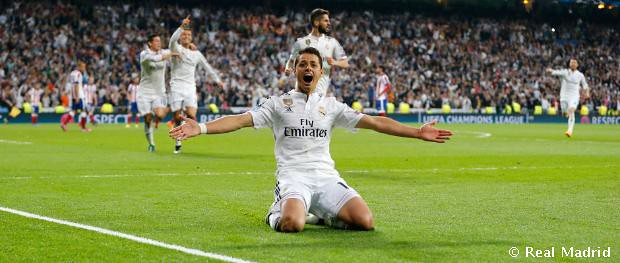 Chicharito en el Real Madrid - Atlético de Madrid