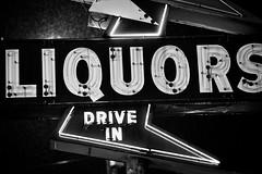 Liquor Store in the Rain, Plate 2 (Thomas Hawk) Tags: bw usa neon unitedstates nashville tennessee unitedstatesofamerica liquorstore fav10