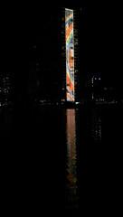 Rainbow Tower (orange.plastic) Tags: night hawaii waikiki rainbowtower htconem8