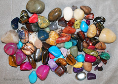 Polished stones (KaseyEriksen) Tags: rocks stones collection gems chakra polished