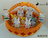 Basket with bunnies Origami 3d (Samuel Sfa87) Tags: rabbit bunny bunnies easter happy origami basket arte sfa block rabbits carta artisan pasqua coniglio cestini cartone cesto cestino arteempapel blockfolding origami3d sfaorigami sfa87 arteconlacarta