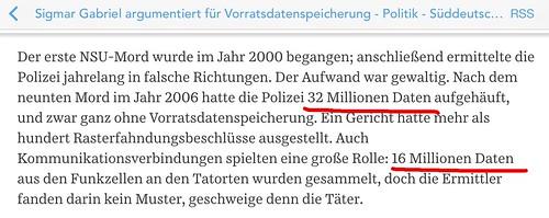 "SZ: ""32 Millionen Daten"" - was immer das wohl sein soll • <a style=""font-size:0.8em;"" href=""http://www.flickr.com/photos/77921292@N07/16911259287/"" target=""_blank"">View on Flickr</a>"