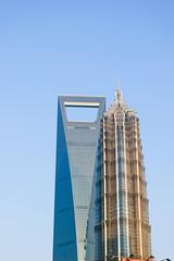 Shanghai WFC & Jin Mao tower 1 /  &  1 (freshwater2006) Tags: china skyscraper   pudong jinmao rascacielos   shanghaiwfc shanghaishi shanghi