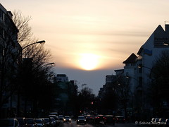 Letzter Winterzeit-Sonnenuntergang / Last Sunset of Winter (Sockenhummel) Tags: winter fuji sonnenuntergang explore finepix fujifilm x20 berlinerstrasse explored inexplore fluidr todaysexplore fujix20