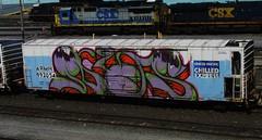 NAS (timetomakethepasta) Tags: train graffiti pacific union express freight nas reefer chilled wholecar armn