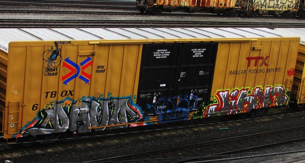 Cmonster Davo Jihan Timetomakethepasta Tags Art Train Graffiti Davo Boxcar