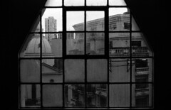 Room with a View (iamthecaffeinated) Tags: street urban blackandwhite bw architecture buildings kodak trix streetphotography manila escolta nikonfe2 kodaktrix400