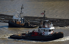 Quayside (drmack2) Tags: log bc 9 boom fraserriver newwestminster towing