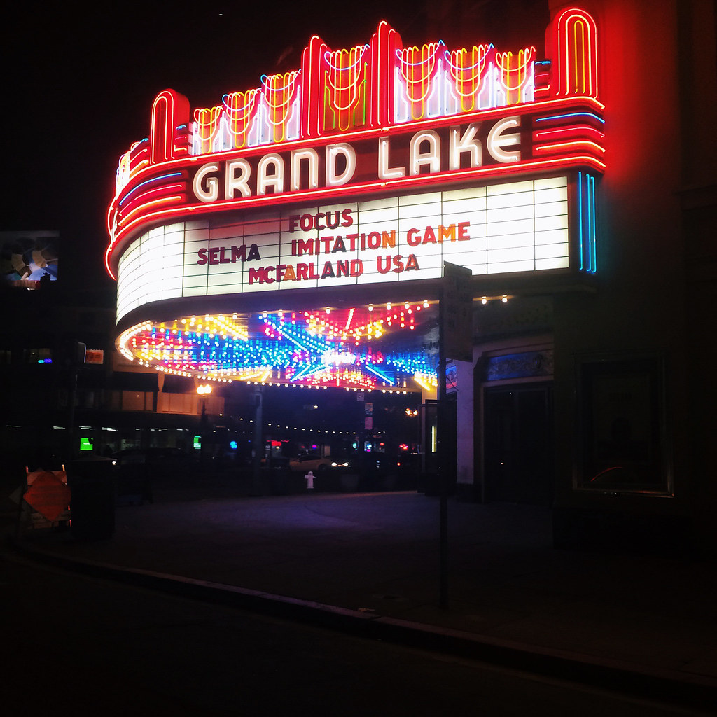 Grand Lake Theater Caseyoto Tags Vintage Marquee Lights Oakland Neon Films Retro Showtime