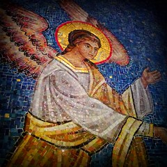 St. Sava Serbian Orthodox Cathedral 19 (milomingo) Tags: church parish wisconsin angel tile religious midwest cathedral mosaic icon milwaukee ornate orthodox iconography serbian stsava serbiandaysfestival2014 serbhallfestival2014