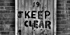 Keep Clear (CJS*64) Tags: bw mono blackwhite seaside nikon yorkshire scarborough nikkor dslr cjs whiteblack keepclear nikkorlens 18mm105mmlens d3100 nikond3100 craigsunter cjs64