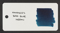 Noodler's Bad Blue Heron - Word Card
