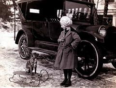 Let's Go Sledding, about  1921 (JFGryphon) Tags: 1921 dogonsled fultonvillenewyork ansonmcnish florencemcnish