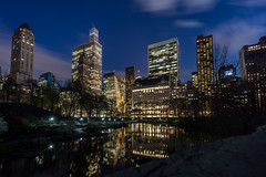 Plaza Hotel at Night from Central Park (freshcoding) Tags: nyc longexposure centralpark manhattan plazahotel