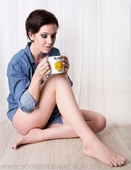 Somersetman3302-2 (somersetman) Tags: morning coffee studio mug mrhappy denimshirt mansshirt modelemmalouise