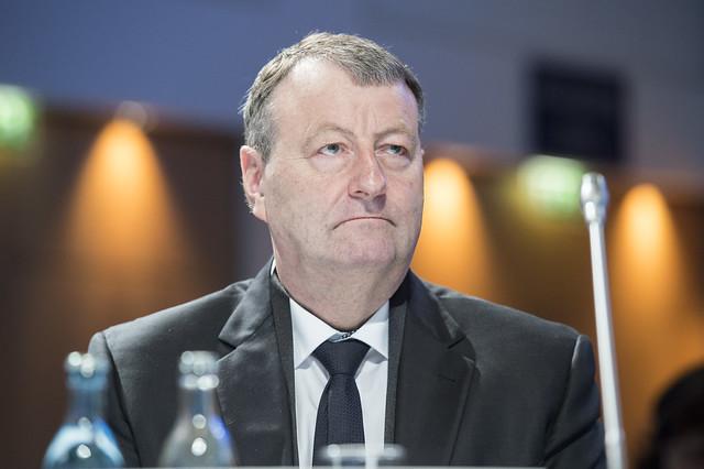 Sigurbergur Björnsson at the Closed Ministerial Session